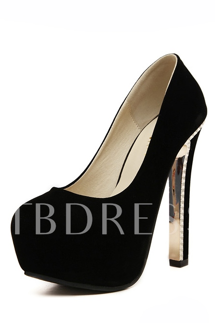 Buy Solid Color Round Toe Platform Stiletto Heel Women's Pumps, Spring,Summer,Fall,Winter, 11311043 for $26.99 in TBDress store
