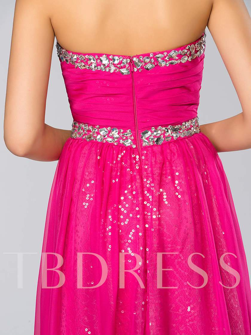 Sweetheart Strapless Beading Long Bridesmaid Dress