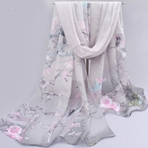 Floral Printed Soft Women's Long Scarf
