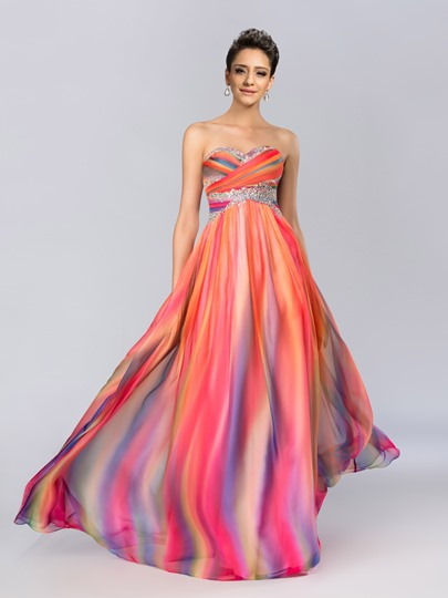 Sweetheart Beading A-Line Prom Dress