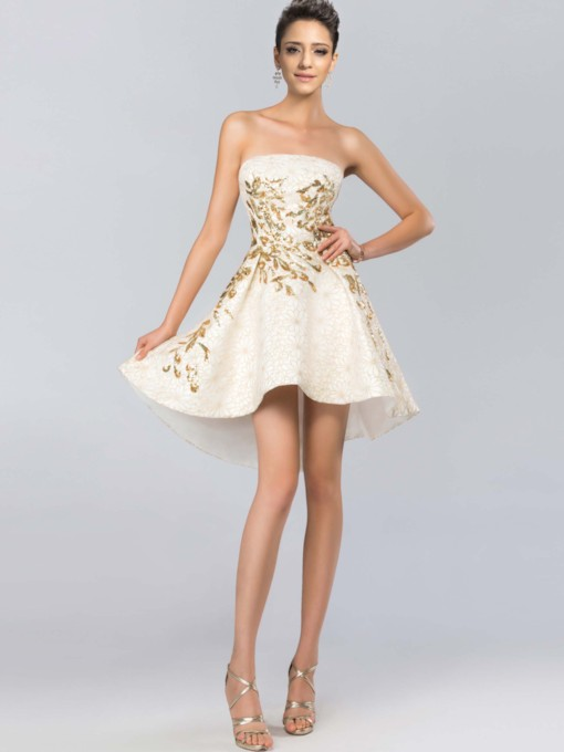 Strapless Sequins Short Cocktail Dress