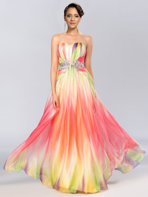Sweetheart A-Line Floor-Length Evening Dress