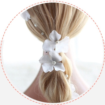Pearl String for Bridal Hair Flower