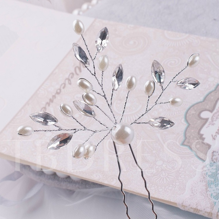 Pearl Alloy Bridal Hairpins
