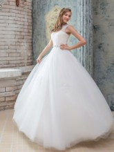 Ball Gown Straps Sequins Lace Wedding Dress