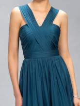 Straps A-Line Ruched Bridesmaid Dress