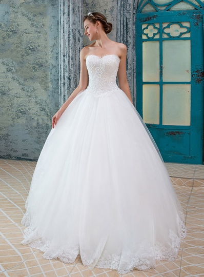 Sweetheart Liques Beading Wedding Dress