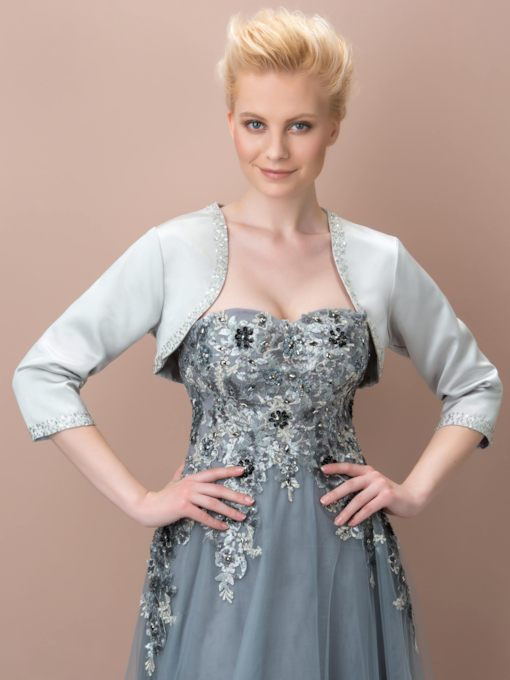 3/4 Length Sleeves Beading Evening Jacket