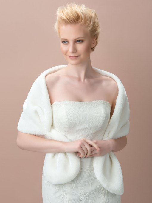Faux Fur Wedding Bridal Jacket