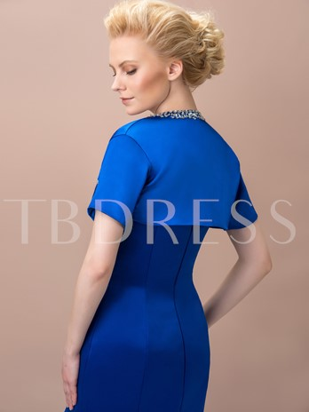 Short Sleeves Beading Evening Jacket