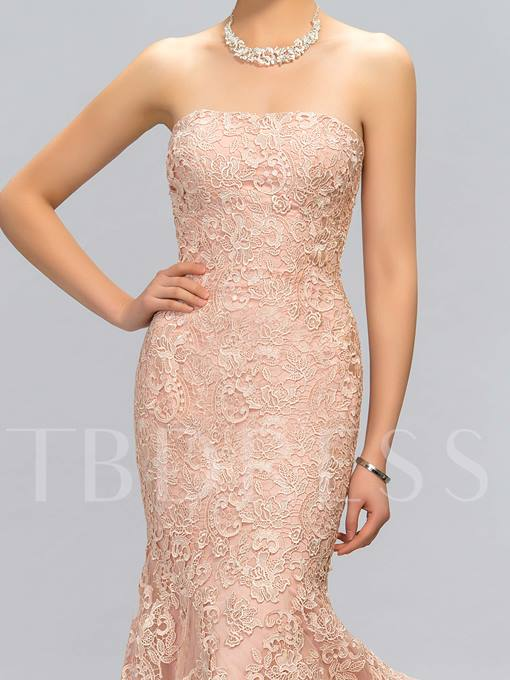 Mermaid Strapless Appliques Floor-Length Evening Dress