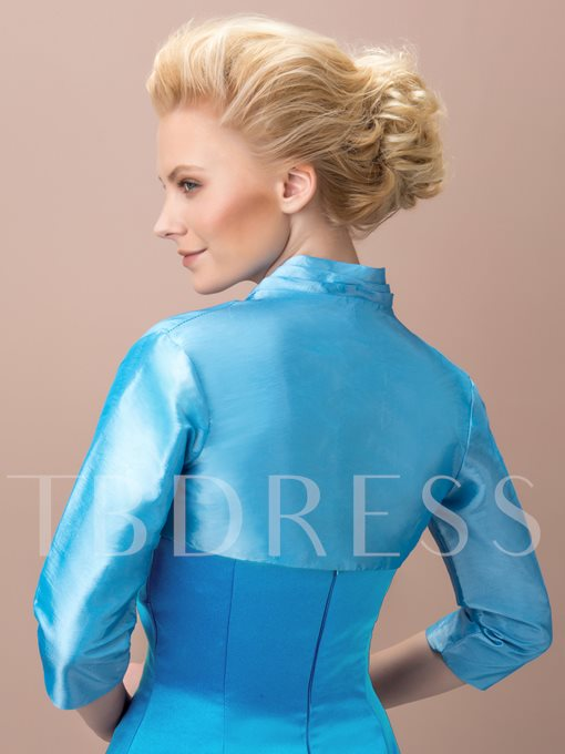 Blue Short Evening Jacket with Sleeves