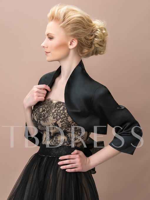 Black Matte Satin Evening Jacket