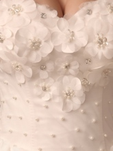 A-Line Sweetheart Appliques Lace-Up Wedding Dress