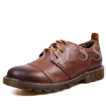 Solid PU Brush-Off Lace-Up Men's Derbies