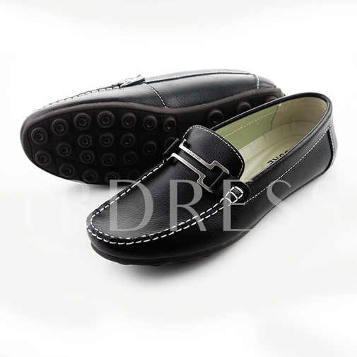Flat Heel Sequins Slip-On Square Toe Men's Loafers