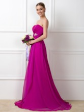 Sweetheart A-Line Beading Pleats Bridesmaid Dress