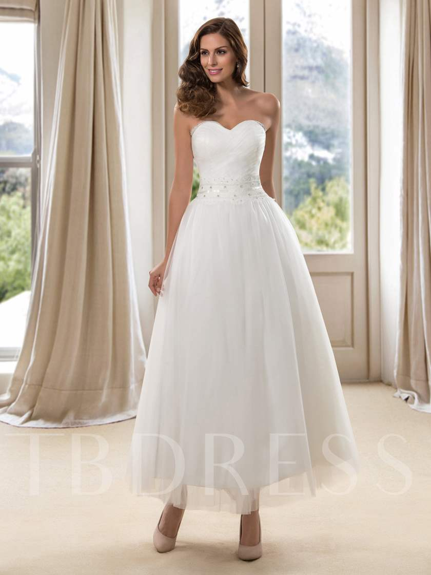 Ankle Length Wedding Dress Sold Out