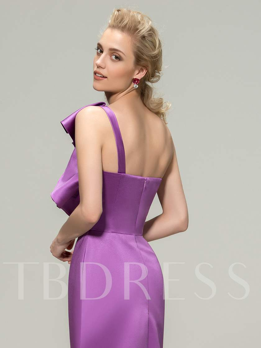 One Shoulder Tiered Ruffles Long Bridesmaid Dress
