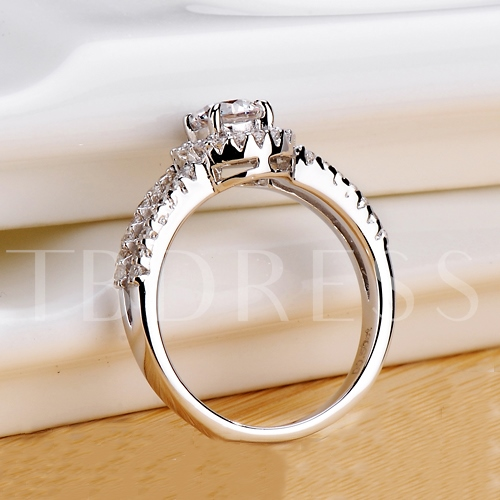 Bright Light Diamond Shaped Ring