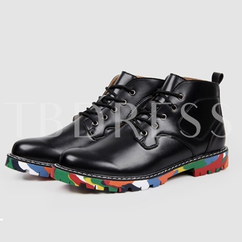 Print Sole Solid Men's Ankle Boots