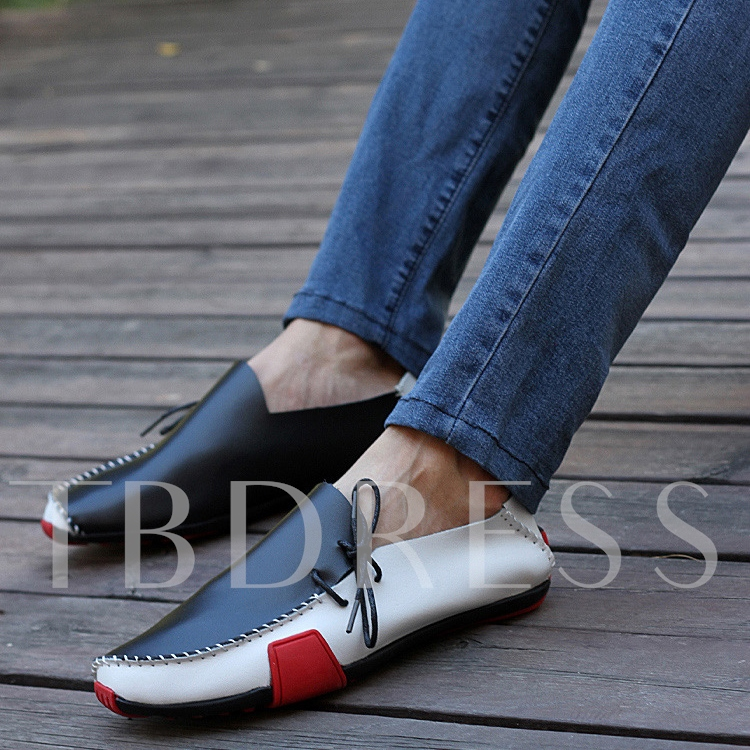 Slip-On Round Toe Low-Cut Upper Men's Loafers
