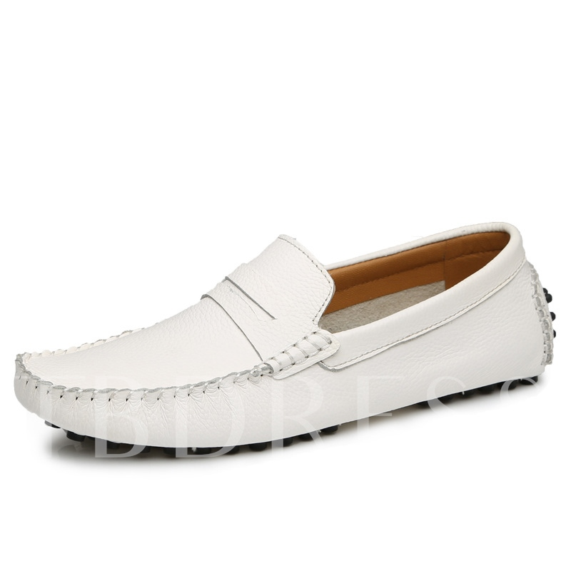 Solid Color Quilted Men's Moccasin-Gommino