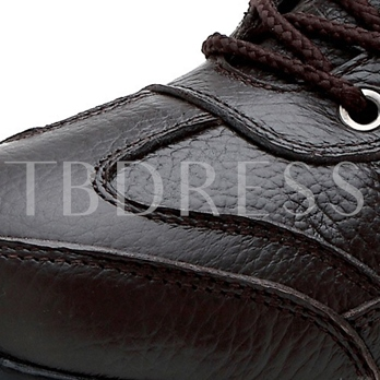 Solid Color Lace-Up Outdoor Men's Ankle Boots