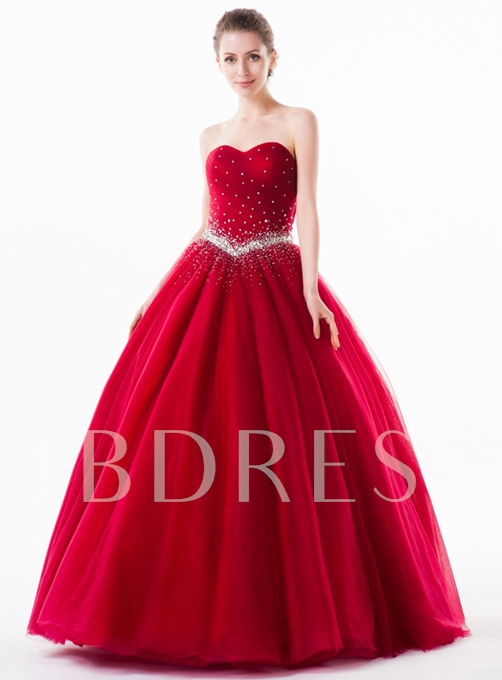 Tbdress A-Line Sweetheart Beadings Quinceanera Dress