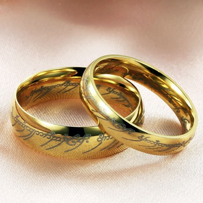 golden overgild lovers rings(price for a pair)