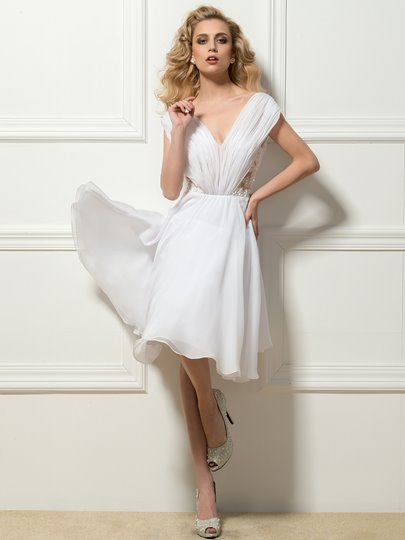 All White Cocktail Dresses Under 100 Dollars Tbdress
