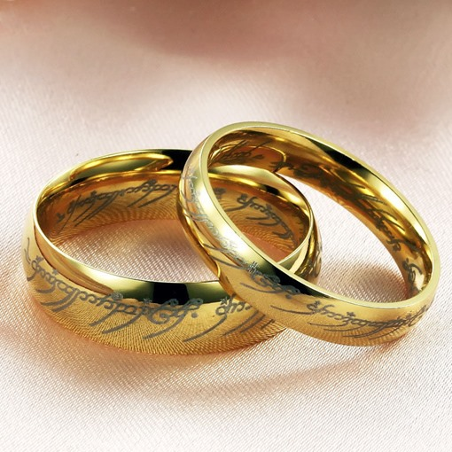 Golden Overgild Lover's Rings(Price For A Pair)