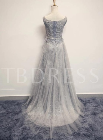 Tbdress A-Line Bateau Neck Lace Evening Dress