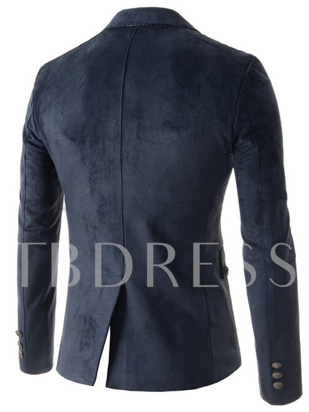 Lapel Single-Breasted Slim Fit Long Sleeve Men's Blazer