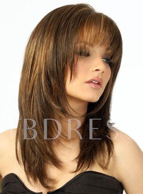 Synthetic Hair Capless 16 Inches 120% Wigs