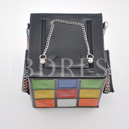 Contrast Color Rubik's Cube Shaped Women's Tote Bag