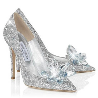 Slip-On Beads Sequins Pointed Toe Chunky Heel 9.5cm Wedding Shoes Slip-On Beads Sequins Pointed Toe Chunky Heel 9.5cm Wedding Shoes