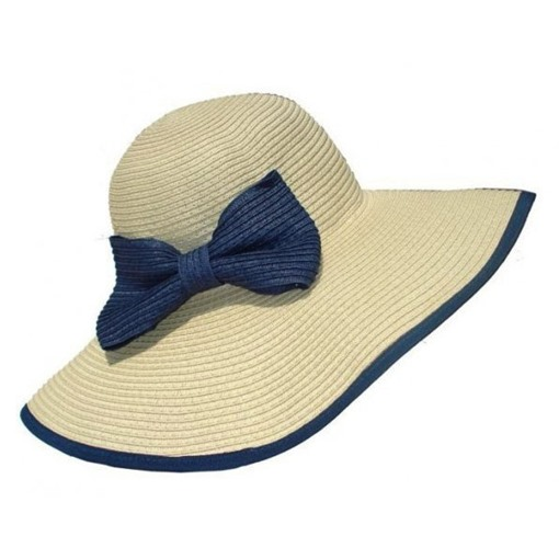 Bow Knot Black Binding Straw hat