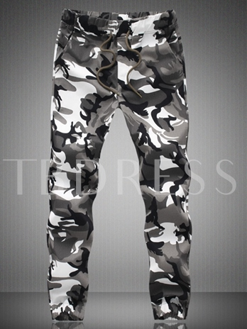 Mid Waist Men's Camouflage Pants