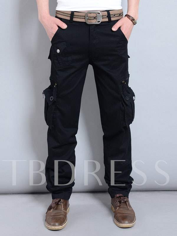 Buy Solid Color Pockets Loose Pants, Spring,Summer,Fall,Winter, 11308063 for $30.99 in TBDress store