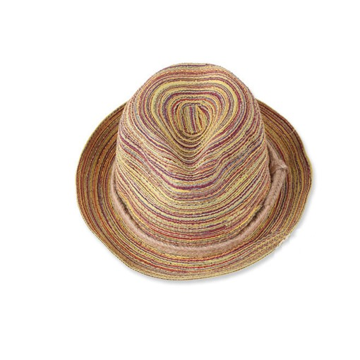 Bohemian Gradient Color Flat Brim Women's Straw Hat