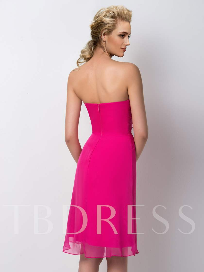 A-Line Sweetheart Short Bridesmaid Dress