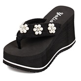 Floral Slip-On Thong Women's Sandals