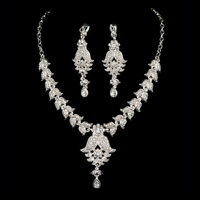 Rhinestone Wedding Jewelry Sets