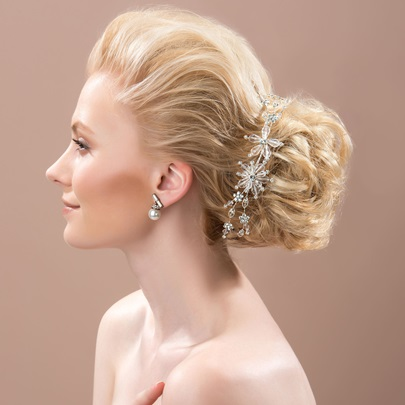 Beading Wedding Party Hair Flower
