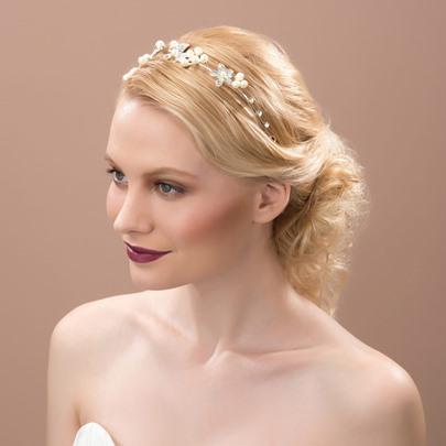 Alloy with Rhinestone Pearl Bridal Hair Flower