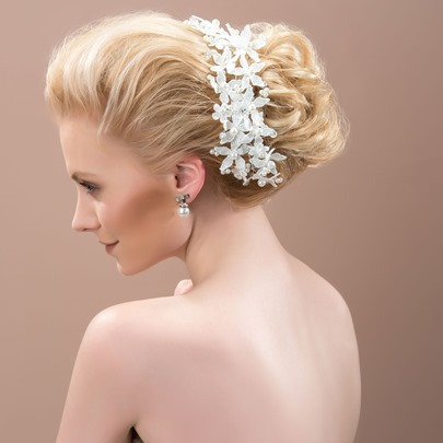 Pearls Flowers Wedding Party Headband/Hair Flower