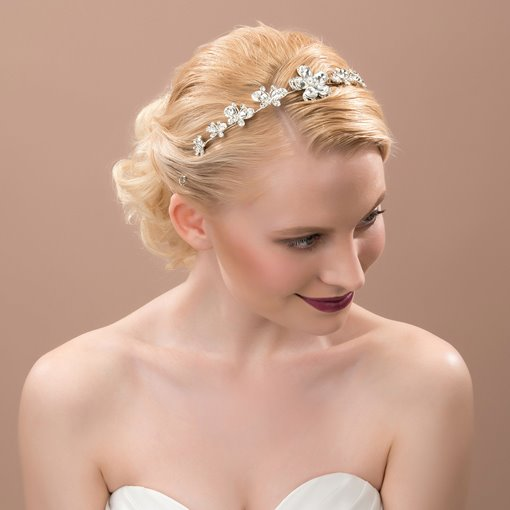 Rhinestone Flower Hair Flowers
