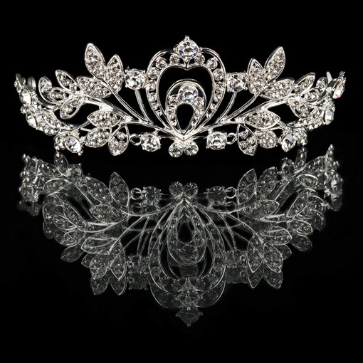 Silver Alloy with Rhinestones Wedding Bridal Tiara
