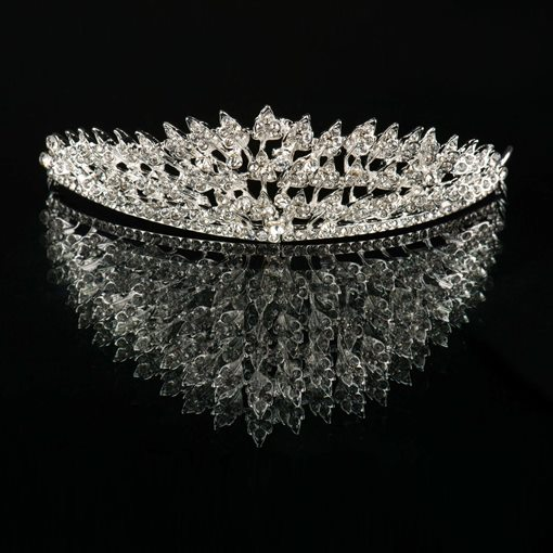 Butterfly Shaped Rhinestone Wedding Bridal Tiara